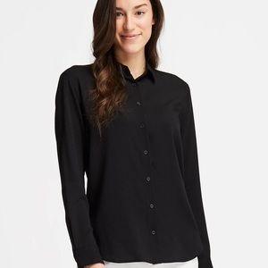 NWOT UNIQLO rayon long sleeve blouse